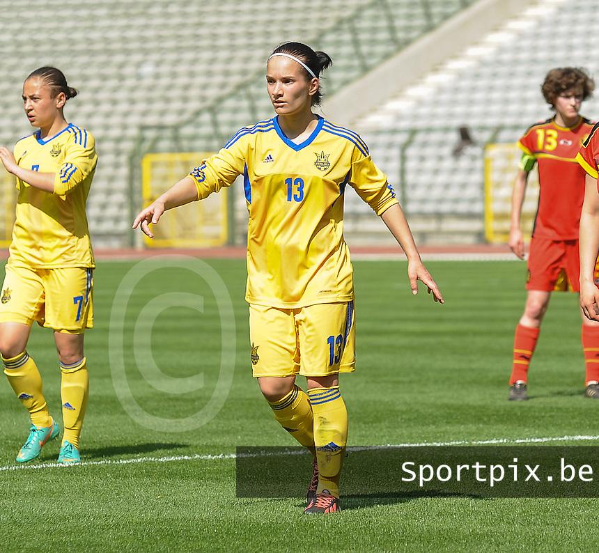 Belgium U19 - Ukraine U19 : <br /> <br /> Ukraine U19 : Nataliia Radziievska<br /> <br /> foto Dirk Vuylsteke / Nikonpro.be