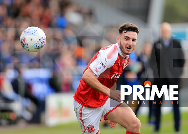 Lewis Coyle of Fleetwood Town loses the ball Lewis Coyle of Fleetwood Town lduring the Sky Bet League 1 match between Shrewsbury Town and Fleetwood Town at Greenhous Meadow, Shrewsbury, England on 21 October 2017. Photo by Leila Coker / PRiME Media Images.