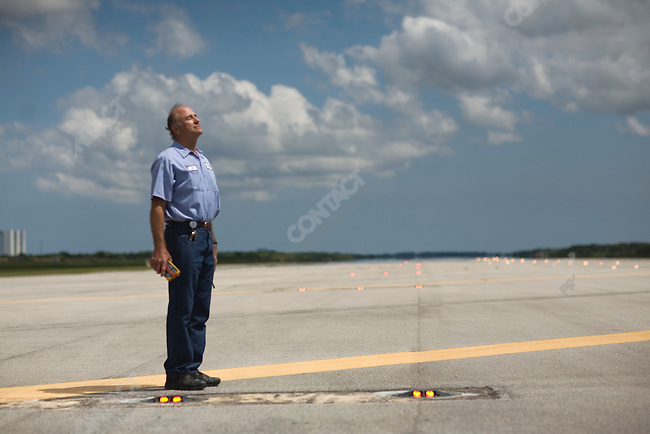 The end of the Space Shuttle program. Bill Schmidt leads a crew of nine who maintain the more than 950 lights that illuminate the 1,500 foot (450 meter) landing strip used by the Shuttle when landing at night. Kennedy Space Center, Cape Canaveral, Florida, April 29, 2010