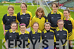 Caherdaniel under 12 team Primary Schools Football Finals at Austin Stack park on Thursday, Front Row from left: Asha Fayen, Clodagh O'Donoghue, Si?ofraoshea, Marie O'Sullivan and Hannah O'Leary. Back row from Left: Mella Hare, Rosin Galvin, Leah Turner, Gabrielle O'Connor and Eilish Galvin.