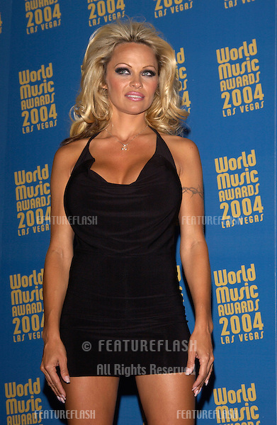 Actress PAMELA ANDERSON at the 16th Annual World Music Awards at the Thomas and Mack Centre, Las Vegas.    .September15, 2004
