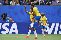 Joie de Christiane (bresil) et de ses coequipieres<br /> Grenoble 09-06-2019 <br /> Football Womens World Cup <br /> Brazil - Jamaica <br /> Brasile - Giamaica<br /> Photo Frederic Chambert / Panoramic/Insidefoto <br /> ITALY ONLY