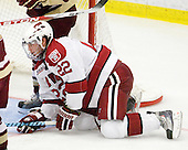 David Valek (Harvard - 22) - The Boston College Eagles defeated the Harvard University Crimson 3-2 on Wednesday, December 9, 2009, at Bright Hockey Center in Cambridge, Massachusetts.