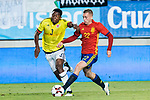 Oscar Murillo of Colombia competes for the ball with Gerard Deulofeu of Spain during the friendly match between Spain and Colombia at Nueva Condomina Stadium in Murcia, jun 07, 2017. Spain. (ALTERPHOTOS/Rodrigo Jimenez)