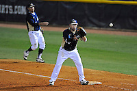 2 March 2012:  FIU infielder/outfielder Adam Kirsch (10) prepares to catch a throw from the infield as the FIU Golden Panthers defeated the Brown University Bears, 6-5, at University Park Stadium in Miami, Florida.