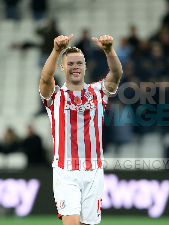 Stoke's Ryan Shawcross celebrates at the final whistle during the Premier League match at the London Stadium, London. Picture date November 5th, 2016 Pic David Klein/Sportimage