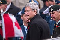 Stephen Harper assiste aux Funerailles de l'adjudant Patrice Vincent, le 1er novembre 2014 a la<br /> Cathedrale de Longueuil.<br />  <br /> <br /> <br /> PHOTO :  Agence Quebec Presse