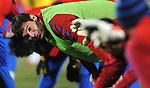 FUDBAL, JOHANEZBURG, 20. Jun. 2010. - Nikola Zigic. Vecernji trening reprezentacije Srbije na Rand stadionu pred mec sa Australijom. Foto: Nenad Negovanovic