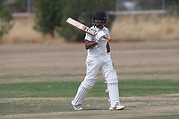 D Rai leaves the field having been dismissed during Oakfield Parkonians CC (batting) vs Wickford CC, Shepherd Neame Essex League Cricket at Oakfield Playing Fields on 4th August 2018
