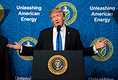 United States President Donald J. Trump delivers remarks at the Unleashing American Energy event at the Department of Energy in Washington, D.C. on June 29, 2017. <br /> Credit: Kevin Dietsch / Pool via CNP