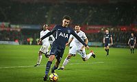 Dele Alli of Spurs during the Premier League match between Swansea City and Tottenham Hotspur at the Liberty Stadium, Swansea, Wales on 2 January 2018. Photo by Mark Hawkins / PRiME Media Images.