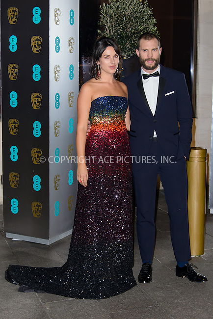 www.acepixs.com<br /> <br /> February 12 2017, London<br /> <br /> Jamie Dornan arriving at the EE British Academy Film Awards in 2017 After Party Dinner at the Grosvenor Hotel on February 12 2017 London<br /> <br /> By Line: Famous/ACE Pictures<br /> <br /> <br /> ACE Pictures Inc<br /> Tel: 6467670430<br /> Email: info@acepixs.com<br /> www.acepixs.com