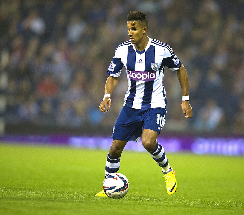 West Bromwich Albion's Scott Sinclair<br /> <br /> Photo by Stephen White/CameraSport<br /> <br /> Football - Capital One Cup Third Round - West Bromwich Albion v Arsenal - Wednesday 25th September 2013 - The Hawthorns - West Bromwich<br />  <br /> &copy; CameraSport - 43 Linden Ave. Countesthorpe. Leicester. England. LE8 5PG - Tel: +44 (0) 116 277 4147 - admin@camerasport.com - www.camerasport.com