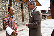 The Bhutanese Prime Minister, Jigmi Y Thinley speaks with Gunter Pauli after the first GNH meeting in Thimphu, Bhutan. Photo: Sanjit Das/Panos