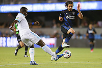 San Jose, CA - Wednesday June 28, 2017: Jahmir Hyka during a U.S. Open Cup Round of 16 match between the San Jose Earthquakes and the Seattle Sounders FC at Avaya Stadium.