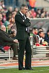 Levante´s coach Lucas Alcaraz during 2014-15 La Liga match at Vicente Calderon stadium in Madrid, Spain. January 03, 2015. (ALTERPHOTOS/Luis Fernandez)