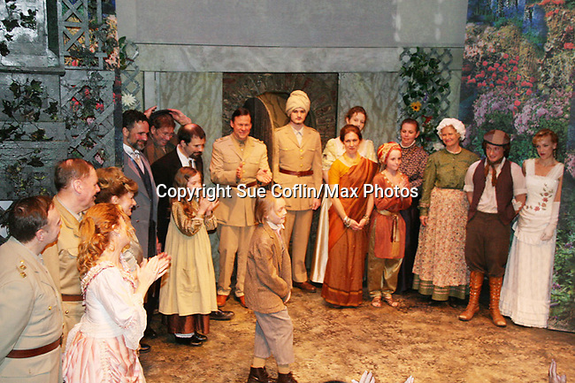 "Curtain Call  - The Secret Garden - Philipstown Depot Theatre presents The Secret Garden on November 7, 2009 in Garrison, New York. It runs Oct. 23 until Nov 15, 2009. The musical The Secret Garden is the story of ""Mary Lennox"", a rich spoiled child who finds herself suddenly an orphan when cholera wipes out the entire Indian village where she was living with her parents. She is sent to live in England with her only surviving relative, an uncle who has lived an unhappy life since the death of his wife 10 years ago. ""Archibald's son Colin"", has been ignored by his father who sees Colin only as the cause of his wife's death.This is essentially the story of three lost, unhappy souls who, together, learn how to live again while bringing Colin's mother's garden back to life. (Photo by Sue Coflin/Max Photos)...."