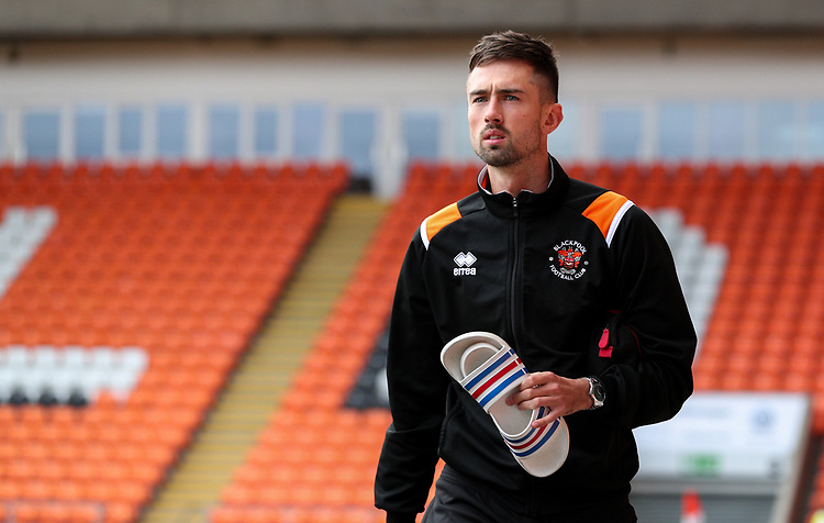 Blackpool's Ryan Hardie arrives at Bloomfield Road<br /> <br /> Photographer Alex Dodd/CameraSport<br /> <br /> EFL Leasing.com Trophy - Northern Section - Group G - Blackpool v Morecambe - Tuesday 3rd September 2019 - Bloomfield Road - Blackpool<br />  <br /> World Copyright © 2018 CameraSport. All rights reserved. 43 Linden Ave. Countesthorpe. Leicester. England. LE8 5PG - Tel: +44 (0) 116 277 4147 - admin@camerasport.com - www.camerasport.com