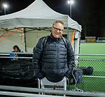 AMSTELVEEN - Telegraaf verslaggever Luuk Blijboom  tijdens de hockeyinterland Nederland-Ierland (7-1) , naar aanloop van het WK hockey in India.  COPYRIGHT KOEN SUYK