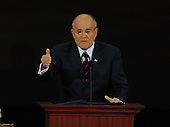 St. Paul, MN - September 3, 2008 -- Former Mayor Rudolph Giuliani of New York City speaks on day 3 of the 2008 Republican National Convention at the Xcel Energy Center in Saint Paul, Minnesota on Wednesday, September 3, 2008.Credit: Ron Sachs / CNP.(RESTRICTION: NO New York or New Jersey Newspapers or newspapers within a 75 mile radius of New York City)