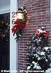 Harrisburg Christmas Decor, Residential Snow and Ribbon