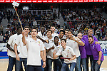 Real Madrid's Junior team taking a selfie during Turkish Airlines Euroleague match between Real Madrid and Darussafaka Dogus at Wizink Center in Madrid, Spain. February 24, 2017. (ALTERPHOTOS/BorjaB.Hojas)