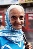 MAURITIUS; street portrait of an elderly woman in Port Louis