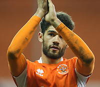 Blackpool's Kelvin Mellor applauds the fans after the final whistle<br /> <br /> Photographer Alex Dodd/CameraSport<br /> <br /> The EFL Sky Bet League Two - Blackpool v Stevenage - Tuesday 14th March 2017 - Bloomfield Road - Blackpool<br /> <br /> World Copyright &copy; 2017 CameraSport. All rights reserved. 43 Linden Ave. Countesthorpe. Leicester. England. LE8 5PG - Tel: +44 (0) 116 277 4147 - admin@camerasport.com - www.camerasport.com