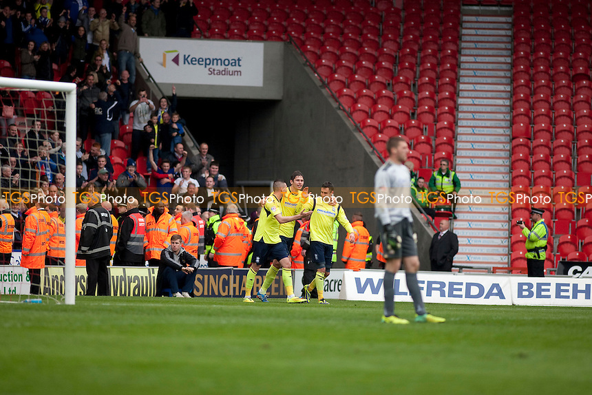 Federico Macheda of Birmingham makes it 1:3<br /> - Doncaster Rovers vs Birmingham City - Sky Bet Championship Football at the Keepmoat Stadium, Doncaster - 05/04/14 - MANDATORY CREDIT: Mark Hodsman/TGSPHOTO - Self billing applies where appropriate - 0845 094 6026 - contact@tgsphoto.co.uk - NO UNPAID USE