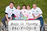 KERRYHEAD TRIATHLON: Launching the Kerryhead Triathlon in aid of Enable Ireland to held on the 28th August at Ballyheigue Beach on Monday l-r: Sean Scally (Enable Ireland), Emma Stritch, Megan Harkin, Angel Hussey and Mick Harkin (Triathlon organizer).