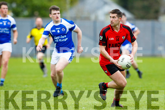 In Action Kenmare's Paul O'Connor gets away from KOR's Karl Mullins at the Castleisland Mart Senior Club Championship Kerins O'Rahilly V Kenmare at KOR GAA Ground on Sunday