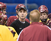 (Anthony Aiello) Mike Cavanaugh (Chris Collins) - The Boston College Eagles took their morning skate on Saturday, April 8, 2006, at the Bradley Center in Milwaukee, Wisconsin to prepare for the 2006 Frozen Four Final game versus the University of Wisconsin.