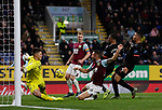 Nick Pope of Burnley makes a point blank save from Raheem Sterling of Manchester City during the Premier League match at Turf Moor, Burnley. Picture date: 3rd December 2019. Picture credit should read: Simon Bellis/Sportimage
