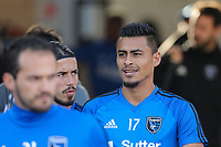San Jose, CA - Saturday May 27, 2017: Darwin Ceren during a Major League Soccer (MLS) match between the San Jose Earthquakes and the Los Angeles Galaxy at Avaya Stadium.