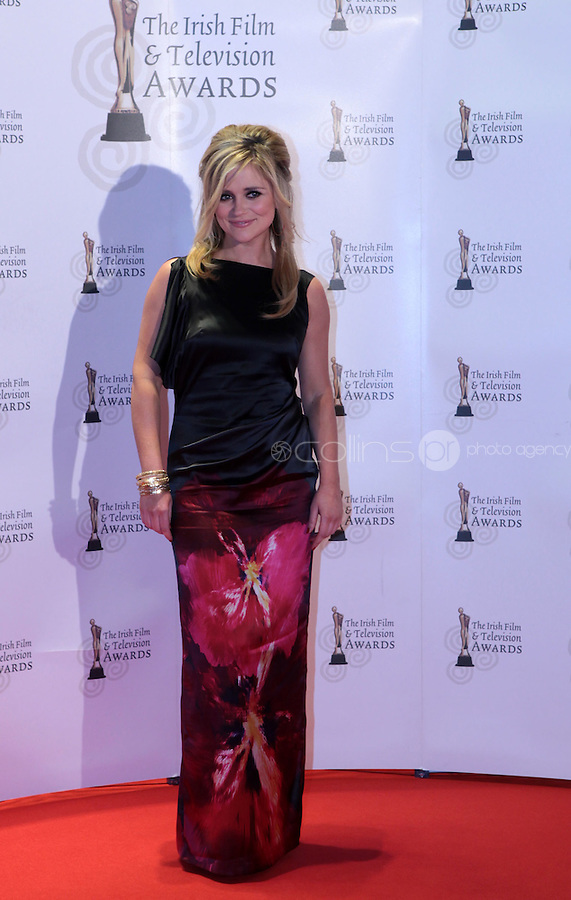 12/2/11 Karen Koster on the red carpet at the 8th Irish Film and Television Awards at the Convention centre in Dublin. Picture:Arthur Carron/Collins
