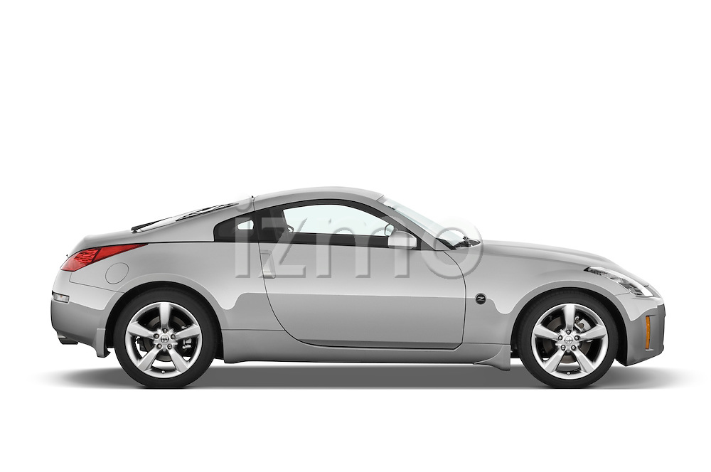 Passenger side profile view of a 2008 Nissan 350z.