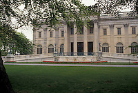 AJ4411, mansion, Newport, Marble House, chateau, Rhode Island, Marble House a white columned mansion in Newport in the state of Rhode Island.