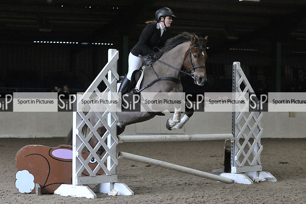Class 6. 75cm. New year unaffiliated showjumping. Brook Farm Training Centre. Stapleford Abbotts. UK. 06/01/2018. ~ MANDATORY CREDIT Garry Bowden/Sport in Pictures - NO UNAUTHORISED USE - +44 7837 394578
