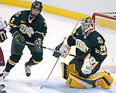 Slavomir Tomko, Joe Fallon - The Boston College Eagles completed a shutout sweep of the University of Vermont Catamounts on Saturday, January 21, 2006 by defeating Vermont 3-0 at Conte Forum in Chestnut Hill, MA.