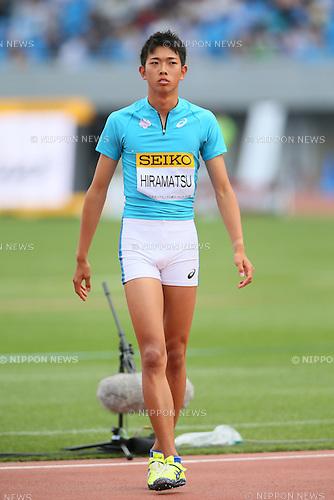 Yuji Hiramatsu, MAY 10, 2015 - Athletics : IAAF World Challenge Seiko Golden Grand Prix in Kawasaki, Men's High Jump at Todoroki Stadium, Kanagawa, Japan. (Photo by YUTAKA/AFLO SPORT)