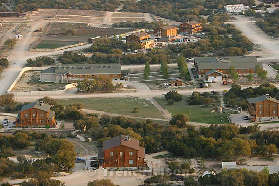"Eldorado - Aerial views of the FLDS compound YFZ ""Yearning for Zion"" Ranch, Tuesday, April 8, 2008. Law enforcement continued their search operation (including the FBI)."