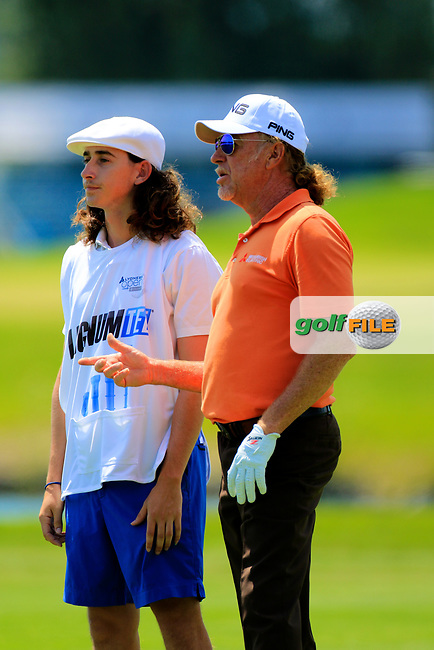 Miguel Angel Jimenez (ESP) during the first round of the Lyoness Open powered by Organic+ played at Diamond Country Club, Atzenbrugg, Austria. 8-11 June 2017.<br /> 08/06/2017.<br /> Picture: Golffile   Phil Inglis<br /> <br /> <br /> All photo usage must carry mandatory copyright credit (&copy; Golffile   Phil Inglis)