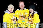 Kathleen Reidy, David Allman and Roisin Reidy at Darkness into Light in Tralee on Saturday morning.