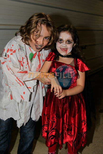 Padraic and Merlyn White at the Termon Abbey and Aston Village residents associations Halloween Disco<br /> Picture: www.newsfile.ie