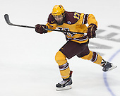 Seth Ambroz (MN - 17) - The University of Minnesota Golden Gophers defeated the University of North Dakota 2-1 on Thursday, April 10, 2014, at the Wells Fargo Center in Philadelphia to advance to the Frozen Four final.