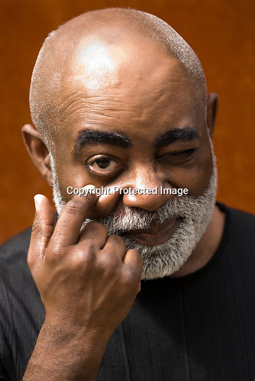 """Man making facial expression, """"I see you"""""""