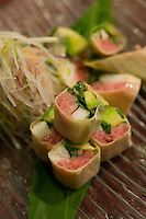 Yuba maki rolls at a Japanese izakaya.
