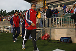 08 May 2007: Maykel Galindo followed by Preki.  The United Soccer League Division 1 Carolina Railhawks hosted Major League Soccer's Chivas USA in a friendly game at SAS Stadium in Cary, North Carolina.