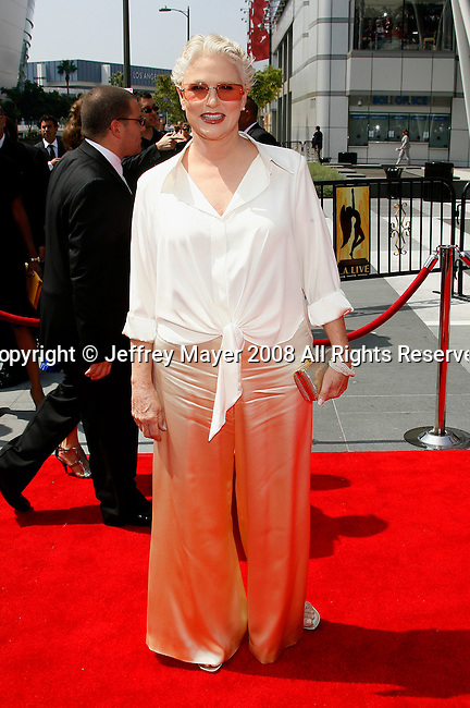 LOS ANGELES, CA. - September 13: Actress Sharon Gless arrives at the 60th Primetime Creative Arts Emmy Awards held at Nokia Theatre on September 13, 2008 in Los Angeles, California.