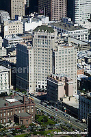 aerial photograph Mark Hopkins hotel Nob Hill San Francisco California